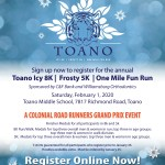 Toano Icy 8K, Frosty 5K and One Mile Fun Run - Register Now!