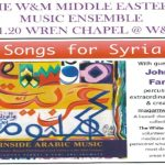 Songs for Syria at the Wren Chapel on March 21, 2020