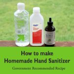 Guidance for homemade hand sanitizer from government
