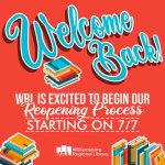 Williamsburg Regional Library is OPEN!