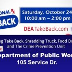 Prescription Drug Take Back Day is Saturday, October 24 -  here are local drop off sites