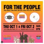 Something in the Water and VA for the People - Register to Vote, Free Masks, Safe Touch Tools - Oct 1 & 2