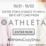 Enter to win a $50 e-gift card for Athleta!