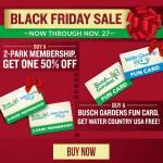 Busch Gardens Black Friday 2020 Sale BOGO Fun Cards & Memberships on SALE