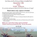 Photos with Santa and Lunch with Santa at Kelrae Farm!