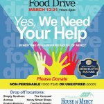 Community Food Drive for Williamsburg House of Mercy, March 12-21