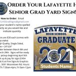 Calling all parents of Lafayette HS seniors - Yard Signs are available!