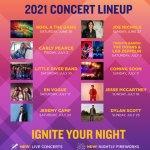Busch Gardens Williamsburg Summer Nights Concert Series 2021