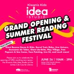 Kiwanis Kids Idea Studio at James City County Library Official Grand Opening and Summer Reading Festival!