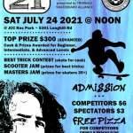 Tommy K Skate Day - Sat. July 24, 2021 at 12 pm - JCC Rec Skate Park