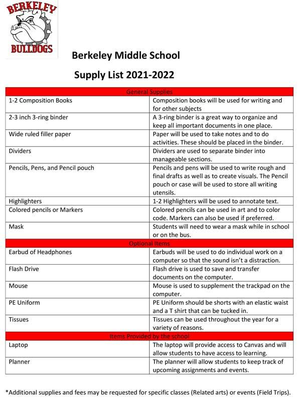 Berkeley-Middle-School-school-supply-list-2021-2022