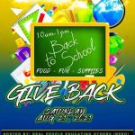 Back to School GiveBack Event Aug 21st 10am - 1pm at Lafayette High School.