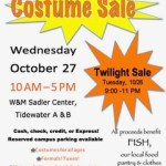 Annual FISH Costume Sale 2021 at W&M Sadler Center - Details: