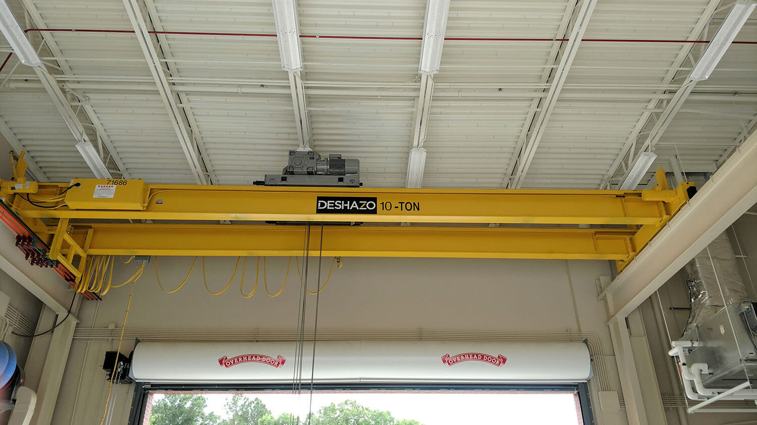 DeShazo 10 Ton, Top Running Double Girder Crane with Detroit Wire Rope Hoist