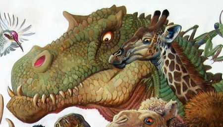 Menagerie – T. Rex and Giraffe Detail