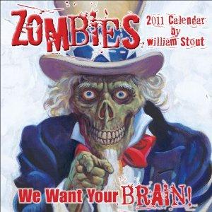 William Stout ZOMBIES! 2011 Calendar