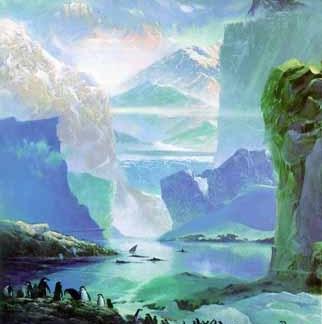 Fantasia Antarctica Notecard