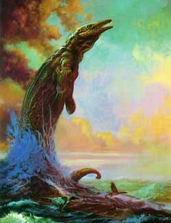 Mosasaur and Loons
