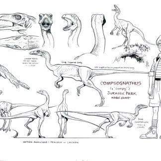 Jurassic Park Animation Model Sheet: Compsognathus