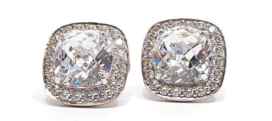 Custom diamond earrings from William Thomas
