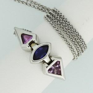 Three Sapphire pendant