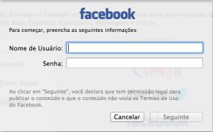 Dados de Acesso ao Facebook