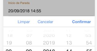 """A imagem mostra um campo de data com um botão adicional de """"Limpar"""""""