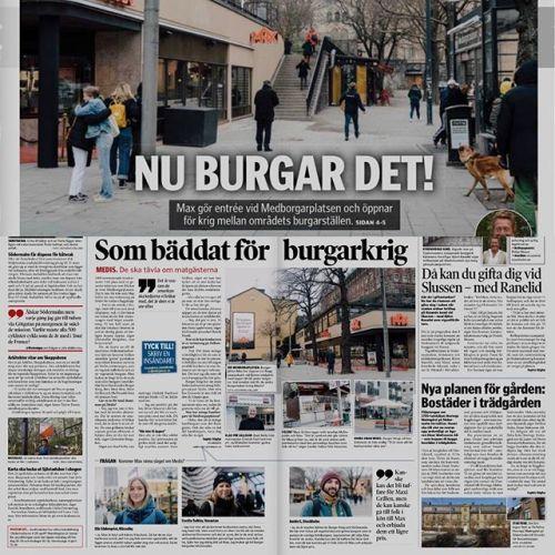 Fick tidningen Södermalmsnytt i lådan idag. Nu burgar det!