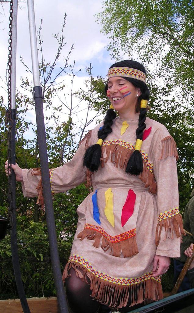 Indiaan kostuum dames