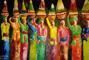 The Balinese, oil on canvas, 90cm x 60cm -