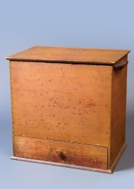 Lot 13: Wood Box with Drawer