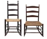 Lot 141: Two Rocking Chairs