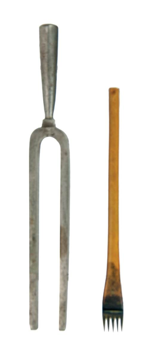 Lot 77: Tuning Fork and Rare Staff Pen for Ruling Sheet Music