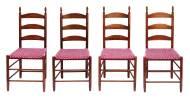 Lot 91: Rare Set of Eight Three-Slat Side Chairs