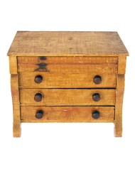 Lot 110A: Doll's Size Empire Chest of Drawers