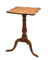 Lot 135: 18th C. Maple Candlestand