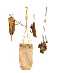 Lot 14: Forged Iron Harpoon, Sailor's Ditty Bag
