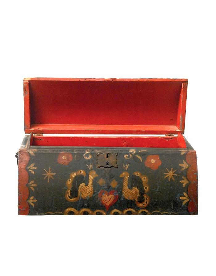 Lot 151: 19th C. Quarter Round Pine Travel Box
