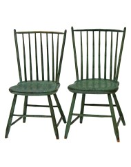 Lot 155: Pair of Windsors Side Chairs