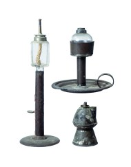 Lot 165B: Six 19th C. Lighting Devices