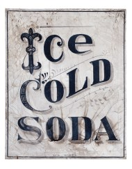 "Lot 165: ""Ice Cold Soda"" Sign"