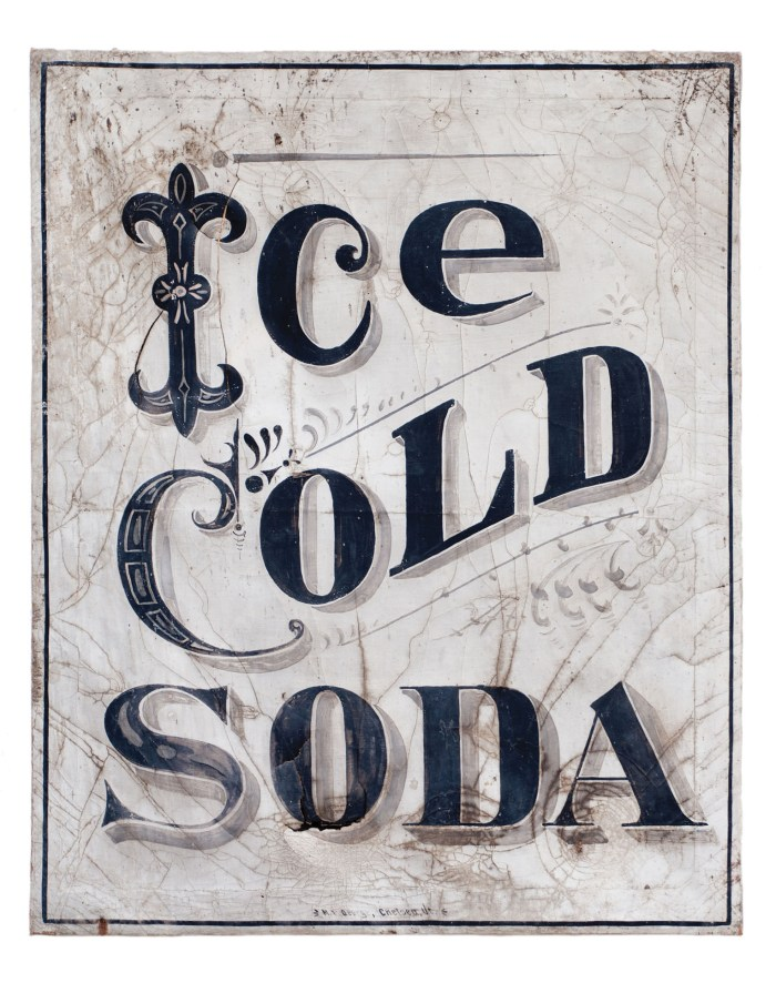 """Lot 165: """"Ice Cold Soda"""" Sign"""