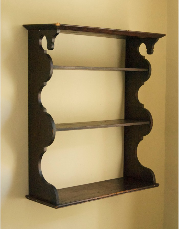 Lot 166: 19th C. Hanging Shelf