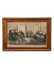 Lot 173: 19th C. Woodblock Print