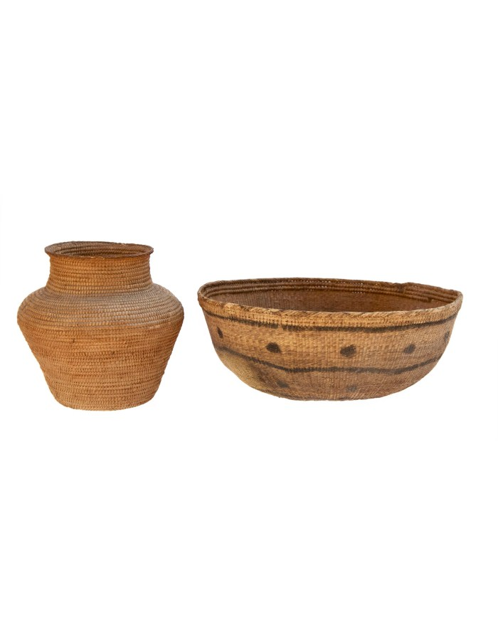 Lot 176: Two Indian Baskets