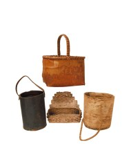 Lot 179: Four New England Indian Baskets