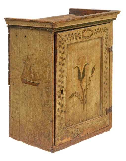 Lot 17: 18th C. Hanging Cupboard