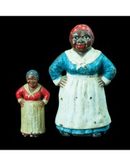 "Lot 181: Two Cast Iron ""Mammy"" Figures"