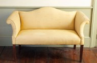 Lot 215: Child's Chippendale Style Sofa