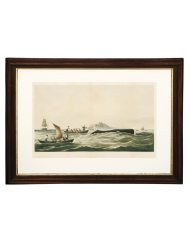 Lot 36A: 19th C. Framed and Colored Lithograph